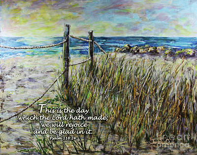 Digital Art - Grassy Beach Post Morning Psalm 118 by Janis Lee Colon