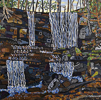 Switzerland Painting - Grassy Creek Falls by Micah Mullen