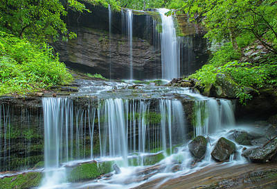 Photograph - Grassy Creek Waterfall In Great Smoky Mountains National Park by Ranjay Mitra