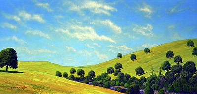 Painting - Grassy Hills At Meadow Creek by Frank Wilson