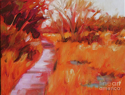 Painting - Grassy Path by Mary Hubley