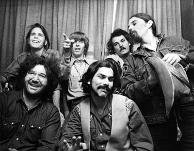 Posing Photograph - Grateful Dead 1970 London by Chris Walter