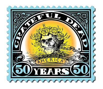 Painting - Grateful Dead 50 by Gary Grayson