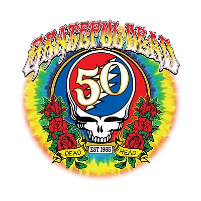 Painting - Grateful Dead Anniversary by Gary Grayson