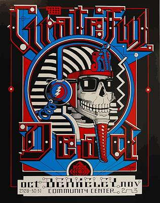 Grateful Dead Berkeley Art Print