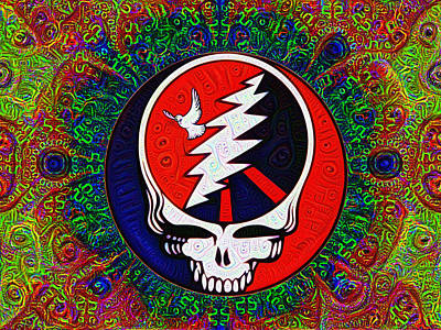 Tied Painting - Grateful Dead by Bill Cannon