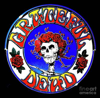Painting - Grateful Dead Logo by Pg Reproductions