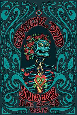 Grateful Dead Santa Clara 2015 Art Print