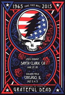 Grateful Dead Santa Clara Ca Art Print