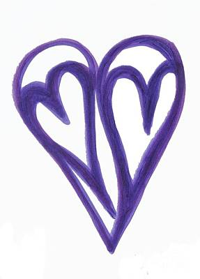 Drawing - Grateful Heart Thoughtful Heart by Marlene Rose Besso