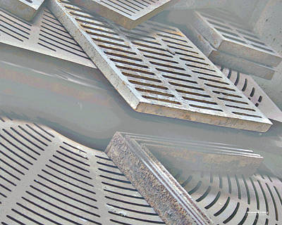 Digital Art - Grates 5102dp by Brian Gryphon