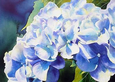 Hydrangea Watercolor Painting - Gratitude by Ariel Freeman