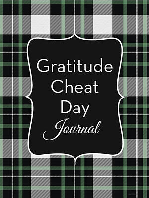 Digital Art - Gratitude Cheat Day Journal Plaid- Art By Linda Woods by Linda Woods