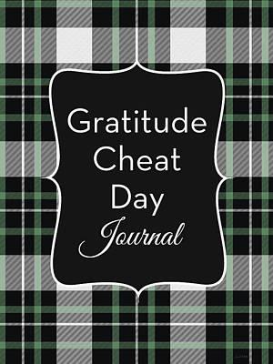 Digital Art - Gratitude Cheat Day Journal Plaid- Art By Linda Woods by Linda Woods