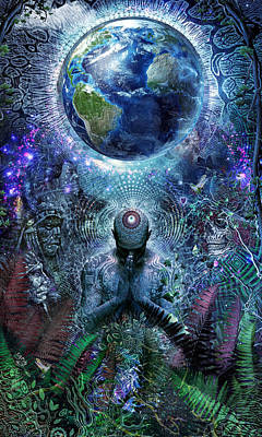 Visionary Digital Art - Gratitude For The Earth And Sky by Cameron Gray