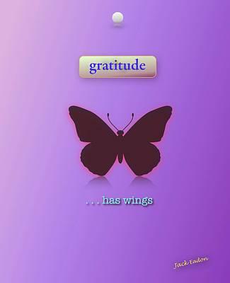 Gratitude Has Wings Art Print by Jack Eadon