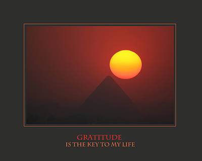 Gratitude Is The Key To My Life Art Print by Donna Corless