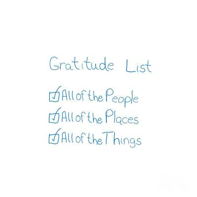 Digital Art - Gratitude List by Rachel Hannah