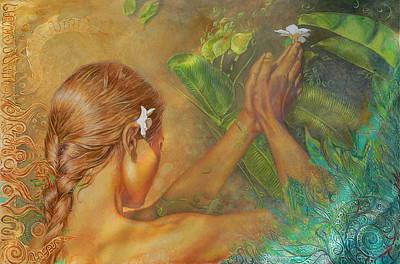 Visionary Art Painting - Gratitude by Melina Del Mar