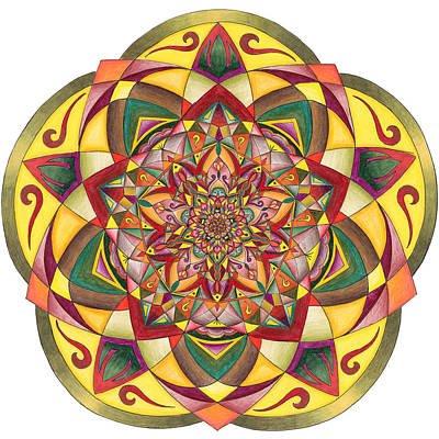 Fractal Geometry Drawing - Gratitude by Sarah A Greene