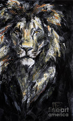 King Of Beasts Painting - Gratitude Series Lion IIi by Rosemary Conroy