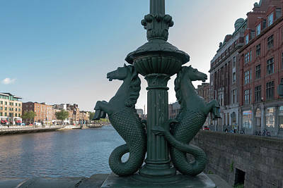 Photograph - Grattan Bridge Dublin by Steven Richman
