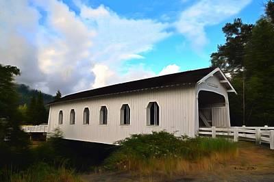 Photograph - Grave Creek Bridge Grants Pass Oregon Painting by Barbara Snyder