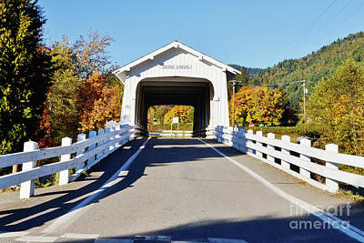 Photograph - Grave Creek Covered Bridge 1 by Ansel Price
