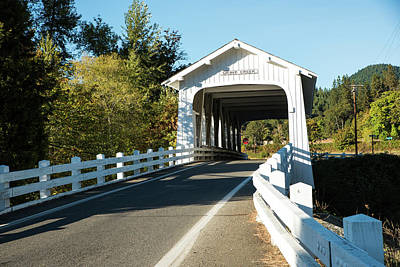 Photograph - Grave Creek Covered Bridge 1 by Tom Cochran