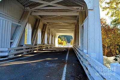 Photograph - Grave Creek Covered Bridge 3 by Ansel Price