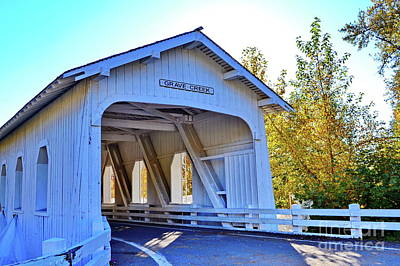 Photograph - Grave Creek Covered Bridge 4 by Ansel Price
