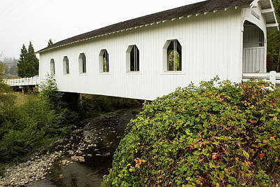 Photograph - Grave Creek Covered Bridge 4 by Tom Cochran