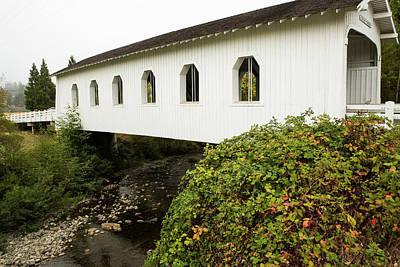 Photograph - Grave Creek Covered Bridge 4 by Tom Cochran