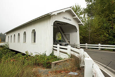 Photograph - Grave Creek Covered Bridge 5 by Tom Cochran