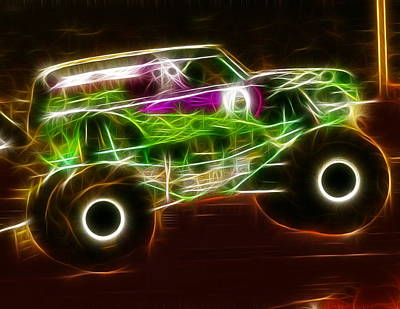 Grave Digger Monster Truck Art Print by Paul Van Scott
