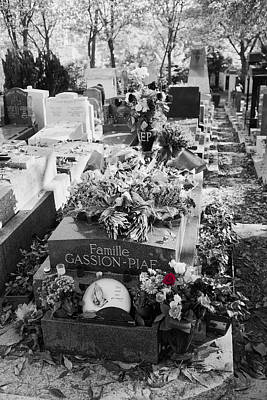 Hands Photograph - Grave Of Edith Piaf  by Hugh Smith