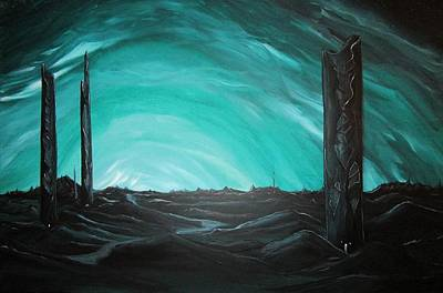 Painting - Grave Towers by J Edward Neill