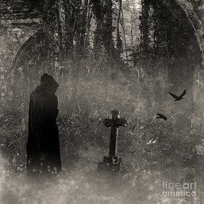 Photograph - Grave Visitor by Clayton Bastiani