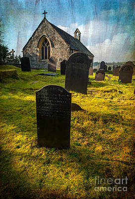 Graveyard Digital Art - Grave Yard by Adrian Evans