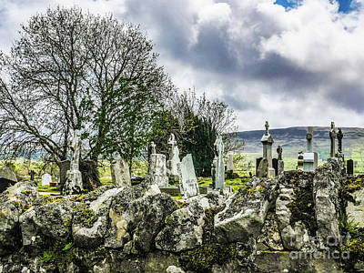 Photograph - Grave Yard Ireland by Lexa Harpell