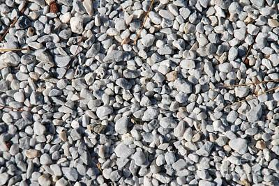 Photograph - Gravel Background by David Fowler