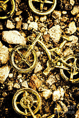 Terrain Photograph - Gravel Bikes by Jorgo Photography - Wall Art Gallery