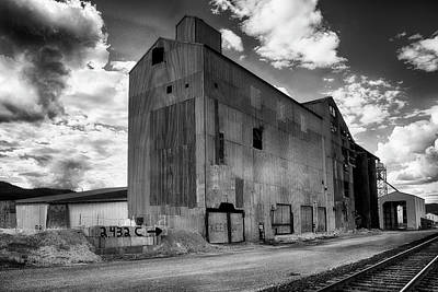 Black And White Photograph - Gravel Plant Chewelah, Wa. by Hugh Smith