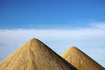 Photograph - Gravel Pyramids by Todd Klassy