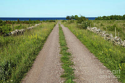 Photograph - Gravel Road Straight To The Sea by Kennerth and Birgitta Kullman