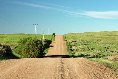 Gravel Road Photograph - Gravel Rock Road by Todd Klassy
