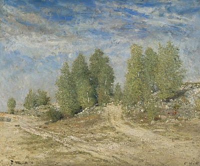 Painting - Gravel Slope by Carl Fredrik Hill