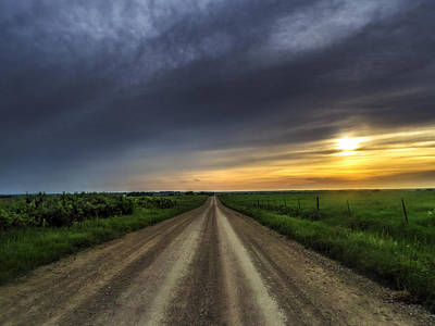 Photograph - Gravel Sunset June 2015 by Eric Benjamin