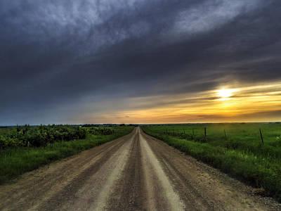 Photograph - Gravel Sunset June 2015 by Eric Benjamin