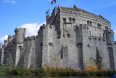 Medieval Castle Photograph - Gravensteen Castle Gent Belgium by Marilyn Dunlap
